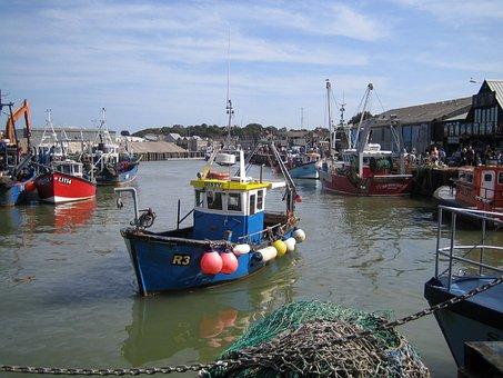 Boats, England, Scenic, Uk, Whitstable, Kent