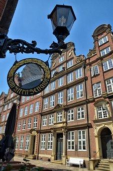 Hamburg, Lantern, Center, Old, Historically, Building