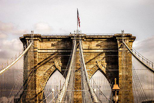 Bridge, Brooklyn Bridge, New York, Usa, Nyc, America