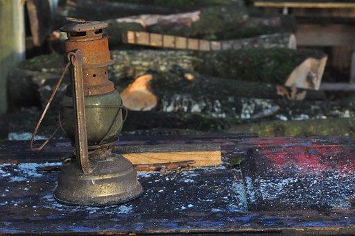 Oil Lamp, Lamp, Rust