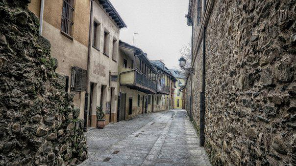 Old Town, Ponferrada, Typical Houses, Street