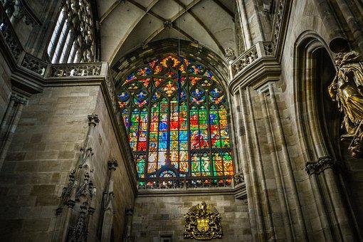 Prague, Czech, Vitus, Cathedral, Church, Altar