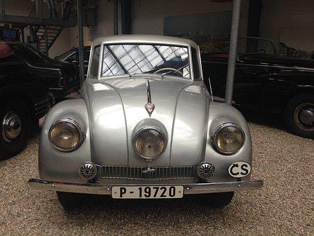 Old Car, Automobile, Retro, Design, Prague, Museum