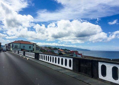 Sao Miguel, Azores Islands, Road, Village