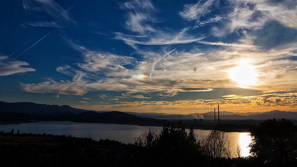 Bárcena Reservoir - Congosto Leon, Spain, Sunset