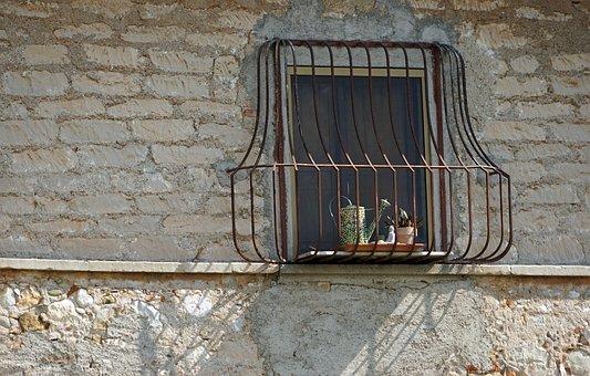 Window, Grid, Facade, Masonry, Grate, Old, Wrought Iron