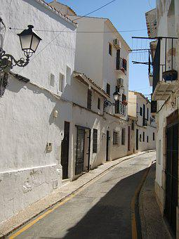 Altea, Spain, Old, Streets, Houses, Facade, Urban