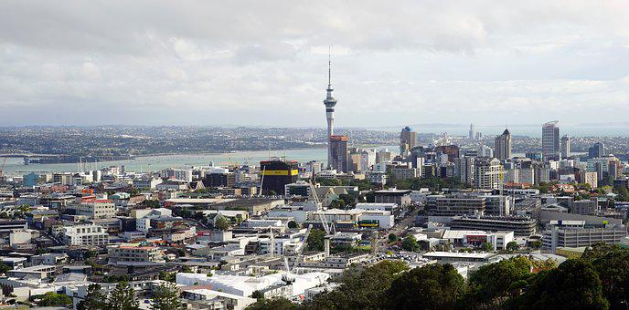 Auckland, Skytower, New Zealand, Architecture