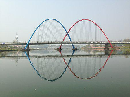Bridge, River, 대전, Daejeon, South Korea