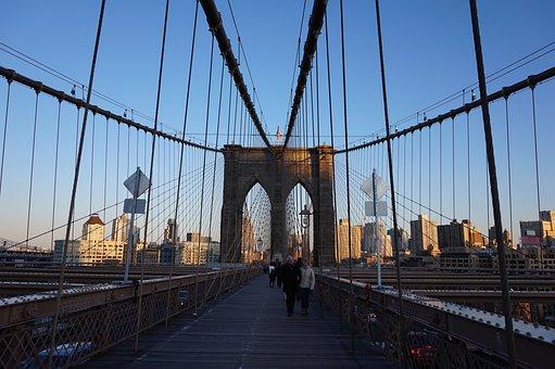 Brooklyn Bridge, Bridge, New York, Ny
