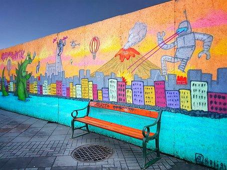 Street Art, Graffiti Art, Colorful, Cartoon, Fantacy