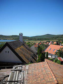 Tihany, Reed Roof, Chimney, Hungary