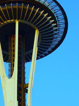 Seattle, Space, Needle, Architecture, City, Sky