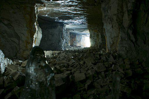 Gallery, Cave, Light, Stones, Ice, Cold, Cube