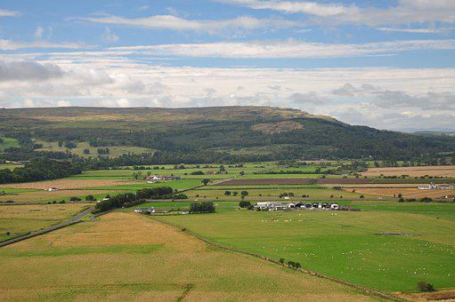 Scotland, Meadows, Fields, Landscape, Village, Scenery