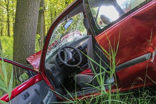 Accident, Crash, Tree, Auto, Pkw, Breakdown, Help
