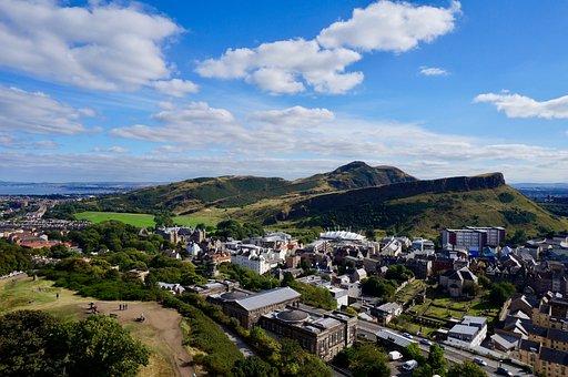 Edinburgh, Arthur's Seat, Hills, Seat, Scotland, Uk
