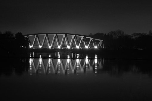 Bro, Water, Evening, Sweden, Channel, Night, Mirroring