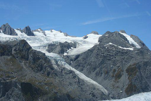 New, Zealand, Mountains, Glaciers