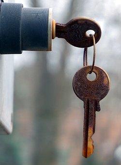 Key, Rusted, Metal, Old, Iron, Close, Metallic