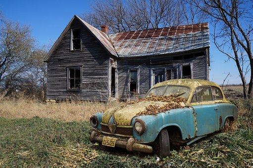 Borgward Hansa, Oldtimer, Scrap Car, Scrap, Rusted