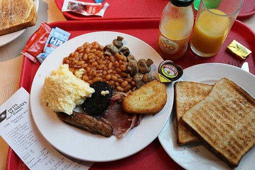 English Breakfast, Ferry, Orange Juice, England