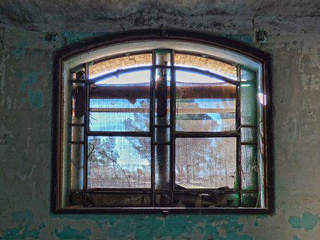 Window, Abandoned, Ruin, Grating, Closed