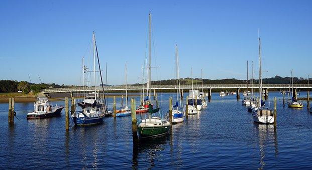 Port, Sailing Boats, Yacht, New Zealand, North Island