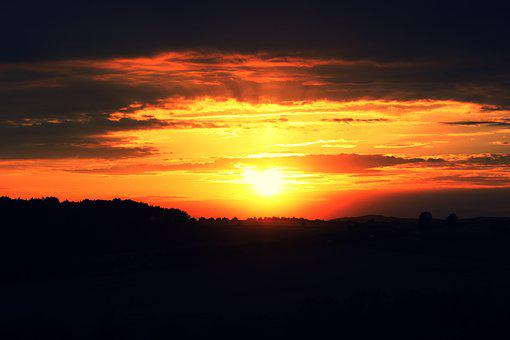 Sunset, Landscape, Nature, Scenic