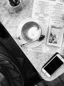 Coffee, Cigarettes, Phone, Smartphone, Iphone, Moody