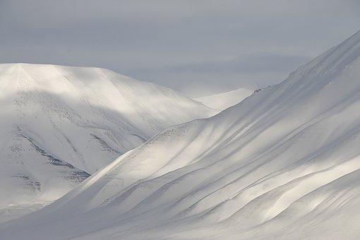 Svalbard, Snow, Mountains, Winter, Cold