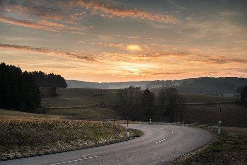Sunset, Sky, Abendstimmung, Spring, Black Forest