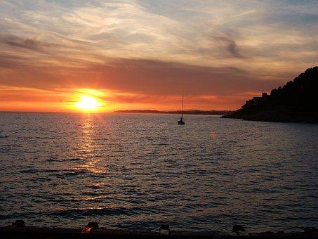 Sunset, Sea, Ortho