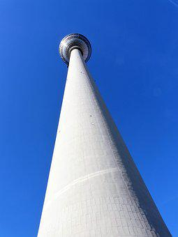 Architecture, Perspective, Tower, Tv Tower, Blue Sky