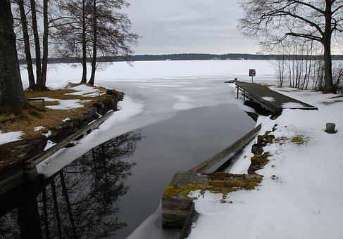 Winter, Our Winter, Water, Lake, Dalsland, Snäcke, Snow