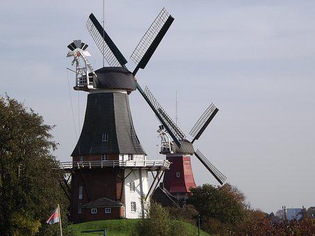 North Sea, Mill, Windmill, Summer