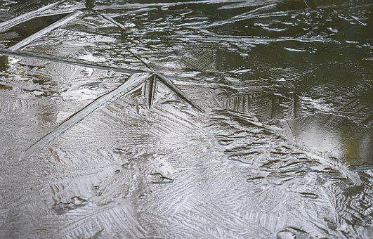 Ice Patterns, Ice, Pond, Winter, Nature, Water, Pattern