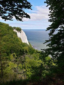 Rügen, King Chair, Baltic Sea, White Cliffs, Forest