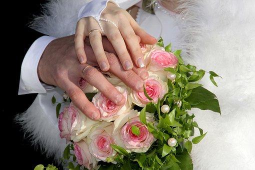 Bride And Groom, Wedding, Marry, Hands, Romance