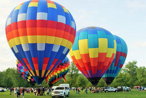 Hot Air Baloons, Sunny, Air, Fly, Travel, Colorful