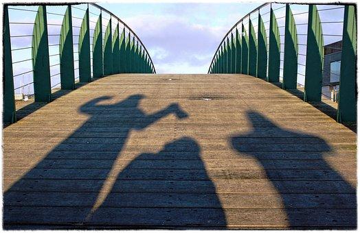 Ebeltoft, Bridge, Shadows, Wood, Iron, Mood