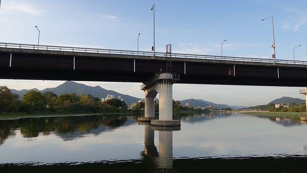 Bridge, Pier, Two Water Head, Semi Circle, River