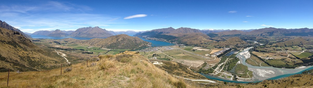 Queenstown, Lake Wakatipu, Southern Alps, Landscape