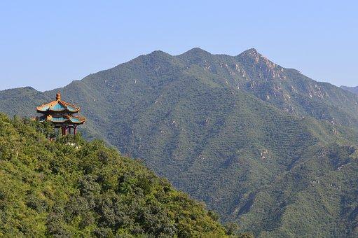 Landscape, Pavilion, Chinese Style