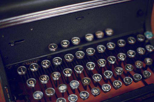 Typewriter, Keys, Writer, Letters, Mechanically, Old