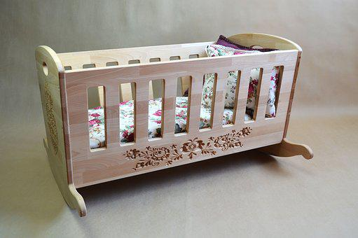 Cradle, Wood, Child, Sleep, Oak