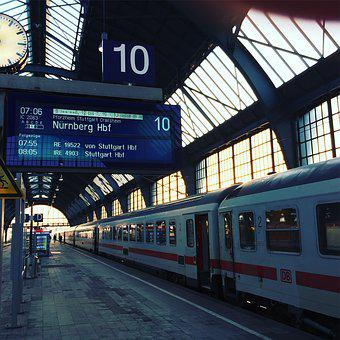 Deutsche Bahn, Railway Station, Karlsruhe, Ic, Train