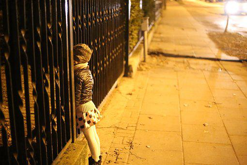 Snooping, The Little Girl, Child, The Fence, Reverie