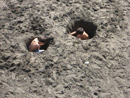 Holes, Sand, Boys