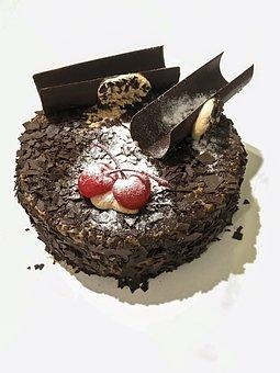 Black Forrest, Cake, Dessert, Fresh, Sweet, Chocolate